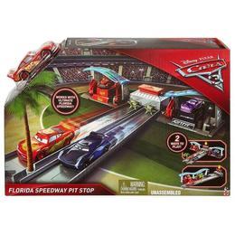 Set de joaca Disney Cars 3, Pista de lansare, Florida Speedway Pit Stop