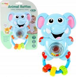 Jucarie zornaitoare MalPlay elefant pentru bebelusi, interactiva si pentru dentitie