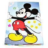Lenjerie patut Mickey si Minnie, albastru, 3 piese, 120x60 cm - Happy Gifts