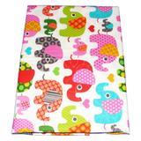 Lenjerie patut cu elefanti, multicolor, 3 piese, 120x60 cm - Happy Gifts