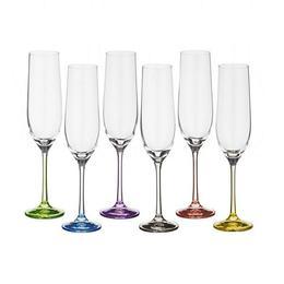 Pahare Bohemia Cristal Rainbow Raki pentru sampanie set 6 buc 190ml