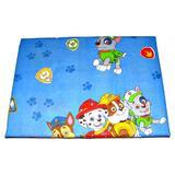 Lenjerie patut Paw Patrol, albastru, 3 piese, 120x60 cm - Happy Gifts