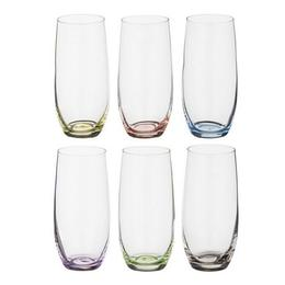 Pahare Bohemia Cristal Rainbow Raki pentru bauturi racoritoare set 6 buc 350ml