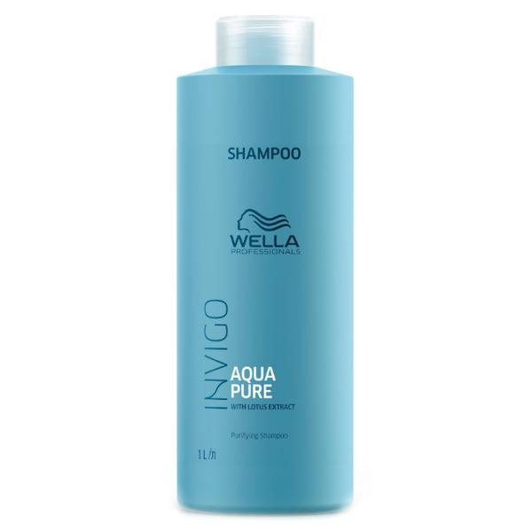 Sampon Purificator impotriva Excesului de Sebum - Wella Professionals Invigo Aqua Pure Purifying Shampoo, 1000ml