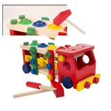Camion din lemn cu functie de reasamblare-Reassembly screw car - Wood Toys