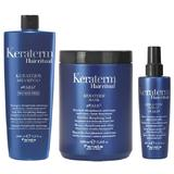 Pachet pentru Netezire Fanola Keraterm Hair Ritual - Sampon 1000ml, Masca 1000ml, Spray 200ml