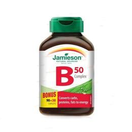 B Complex Jamieson 50mg, 120 comprimate