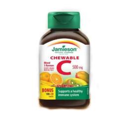 Vitamina C Mix 3 fructe Jamieson 500g, 100+20 comprimate