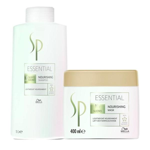 Pachet Nutritiv Wella SP Essential - Sampon 1000ml, Masca 400ml imagine