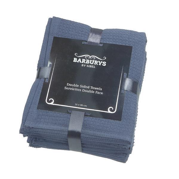 Prosoape pentru tratamente faciale Barber shop 20x70 cm – 6 buc negre