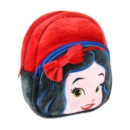 Ghiozdan pentru gradinita, Disney Alba ca Zapada, pentru fete, din plus, rosu , 22 cm