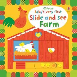 Carte cartonata cu animale de la ferma Slide and See Farm