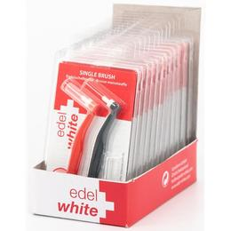 Pachet cabinet 12 seturi edel+white Single Brush Periuta ortodontica cu cap rotund set 2 periute