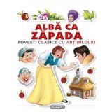 Alba-ca-Zapada - Povesti clasice cu abtibilduri, editura Girasol