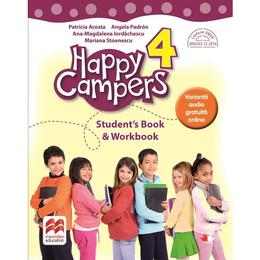 Happy Campers. Student's Book and Workbook - Clasa 4 - Patricia Acosta, editura Litera