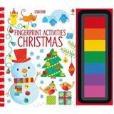 Carte de pictat pentru Craciun Christmas Fingerprint Activities editura Usborne