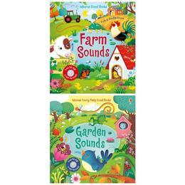 Doua carti cu sunete Garden si Farm Sounds