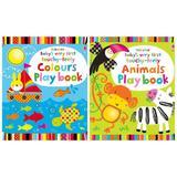 Set de carti senzoriale pentru bebelusi cu animale si culori - Animals Playbook, Colours Playbook