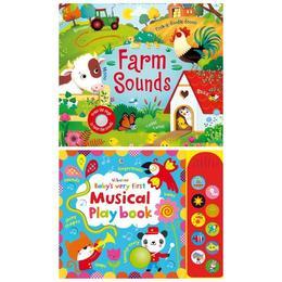 Carti muzicale pentru bebelusi Musical Playbook si Farm Sounds Usborne