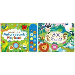 Carti muzicale pentru bebelusi Nature Playbook si Zoo Sounds Usborne