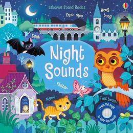 Carte cu sunetele noptii Night Sounds editura Usborne