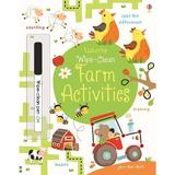 Carte cu activitati de la ferma Scrie si Sterge Wipe Clean Farm Activities Usborne