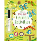 Carte cu activitati din gradina  Scrie si Sterge Wipe Clean Garden Activities Usborne
