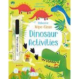 Carte cu dinozauri Scrie si Sterge Wipe Clean Dinosaur Activities Usborne