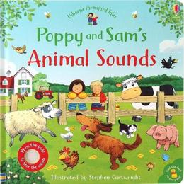 Carte cu sunete animale Poppy Sam Animal Sounds