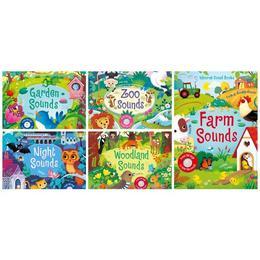 Colectie de 5 carti cu sunete Ferma, Zoo, Padure, Noapte si Gradina - Farm Sounds, Zoo Sounds, Night Sounds, Garden Sounds