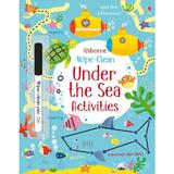 Carte cu activitati  Scrie si Sterge Wipe Clean Under the sea  Usborne
