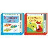 Set avantajos de carduri Scrie si Sterge pentru invatarea numerelor si cuvintelor Wipe-clean First Words si Numbers
