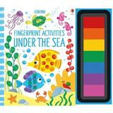 Carte de pictat cu degetelele Under the sea Fingerprint Activities editura Usborne