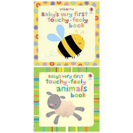 Set doua carticele senzoriale pentru bebelusi mici Touchy feely editura Usborne