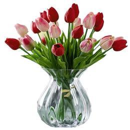 Buchet de Lalele Roz Artificiale, 31 lalele, Flori decor