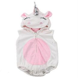 Body Unicorn pentru copii cu gluga si codita, 9-12 luni, alb cu roz