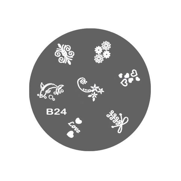 Matrita Stampila pentru Decorarea Unghiilor Lucy Style 2000, model B24 imagine produs