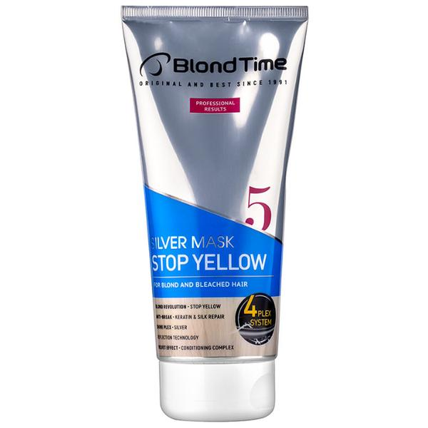 Masca Argintie Stop Yellow Blond Time nr. 5 Rosa Impex, 200ml imagine produs