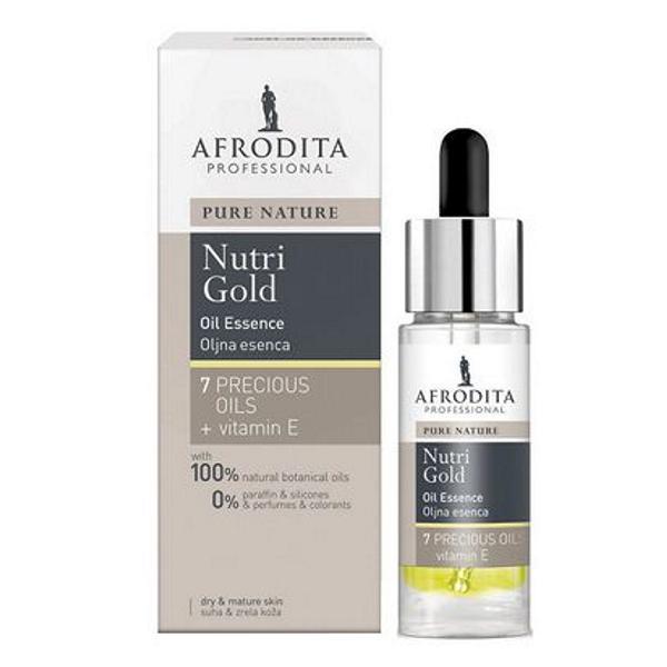 Serum Pentru Ten Uscat Pure Nature Nutri-Gold Cosmetica Afrodita, 30ml
