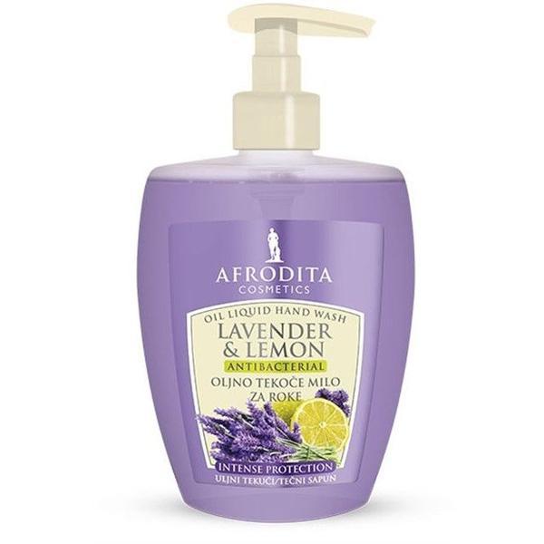 Sapun Lichid Uleios Antibacterian Lavender & Lemon Cosmetica Afrodita, 300 ml imagine produs