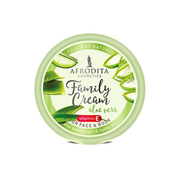Crema cu Aloe Vera pentru Fata si Corp Family Cream Cosmetica Afrodita, 150ml imagine produs
