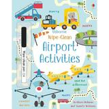 Carte cu activitati  Scrie si Sterge Wipe Clean Airport Activities editura Usborne