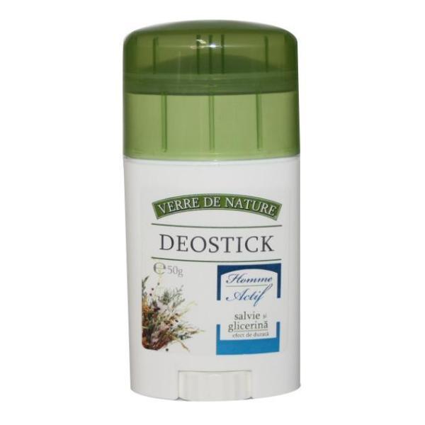 Deodorant Stick cu Salvie si Glicerina Verre de Nature Homme Actif Manicos, 50g poza