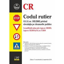 Codul rutier act. 2 septembrie 2019, editura Rosetti