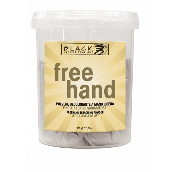 Pudra Decoloranta 7 Tonuri - Black Professional Line Powder For Free Hand Bleaching, 450g esteto.ro