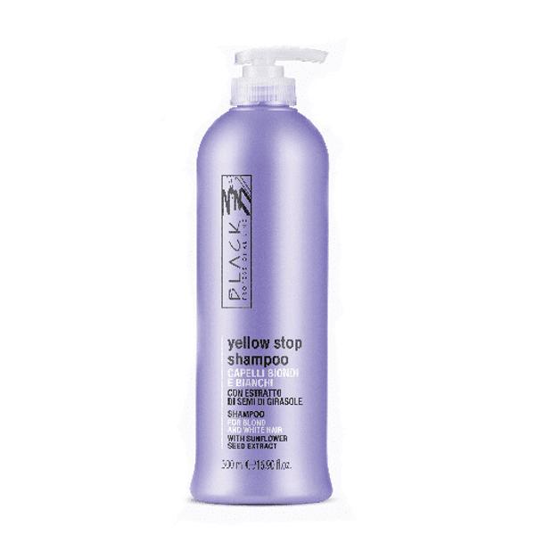 Sampon cu Pigment pentru Par Alb, Blond sau Decolorat - Black Professional Line Yellow Stop Shampoo, 500ml esteto.ro