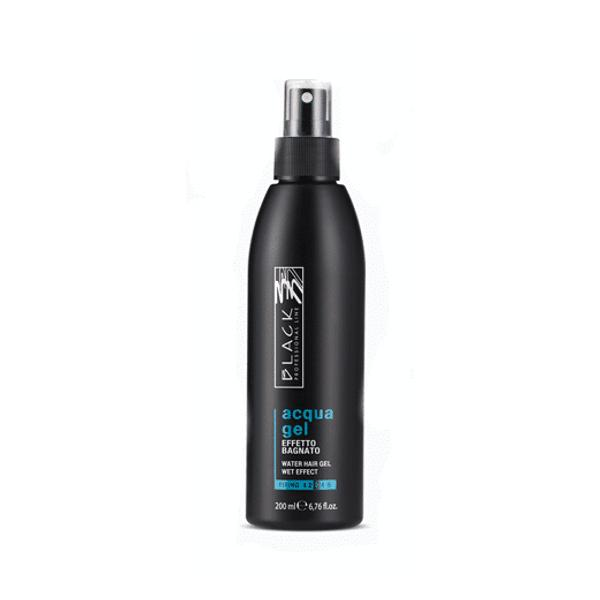 Gel Lichid de Fixare cu Aspect Wet Look Putere 3 - Black Professional Line Acqua Gel Spray Wet Look Liquid Gel, 200ml imagine produs