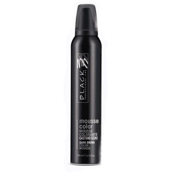 Spuma Coloranta - Black Professional Line Mousse Color Protective Colouring Dark Brown, 200ml imagine produs