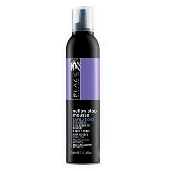 Spuma cu Pigment pentru Par Alb, Blond sau Decolorat - Black Professional Line Anti-Yellow Hairmousse, 300ml imagine produs