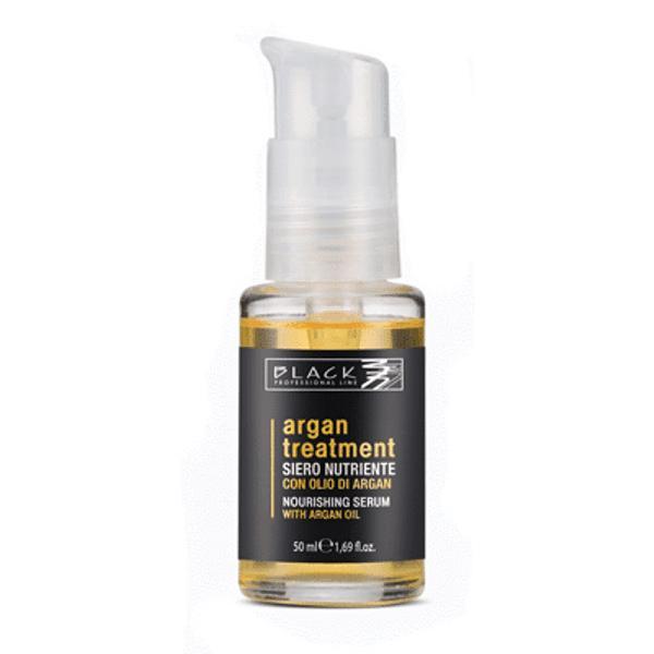 Ulei de Par cu Ulei de Argan Hranitor - Black Professional Line Nourishing Hair Serum With Argan Oil, 50ml esteto.ro